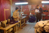 Labour inspection in a sweatshop in Brazil