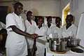 Cooking lessons. Vocational training centre for the young of Rwabuye. Rwanda.